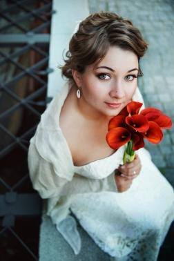Невеста букет глаза взгляд ресницы фото девушка